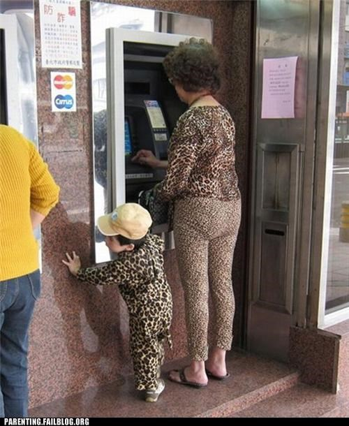 fashion grandmother leopard print mother Parenting Fail poorly dressed synchronized - 5411708416
