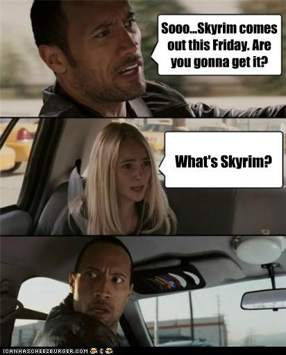 Sooo...Skyrim comes out this Friday. Are you gonna get it? What's Skyrim?