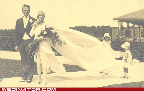 1920s bride flower girls funny wedding photos groom Historical retro