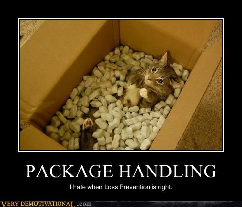 PACKAGE HANDLING I hate when Loss Prevention is right.