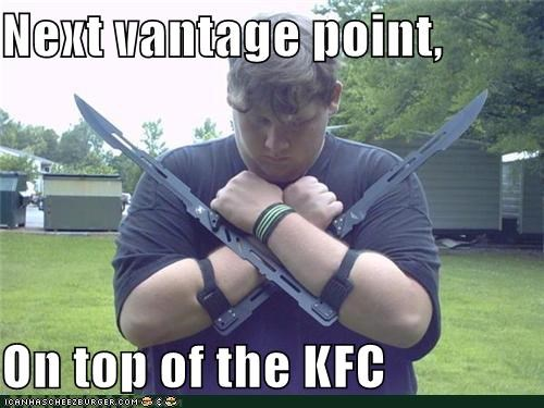 Next vantage point, On top of the KFC