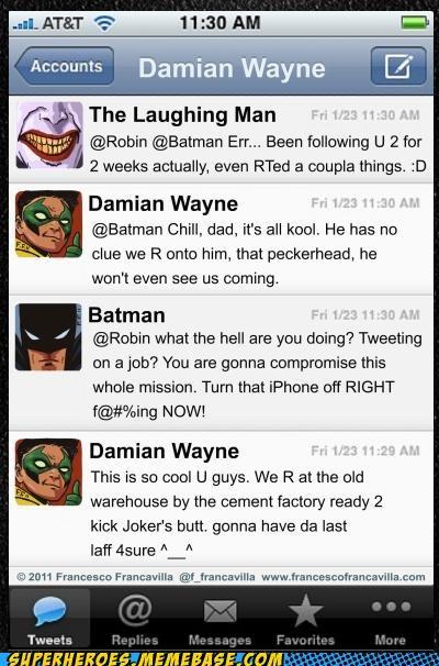batman best of week damian wayne joker laughing man Random Heroics - 5412175616