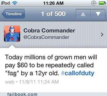 call of duty cod Featured Fail GI Joe twitter video games