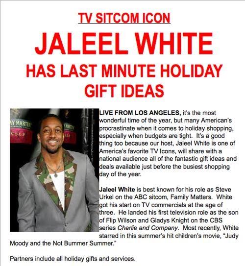 celeb christmas Jaleel White - 5412209920