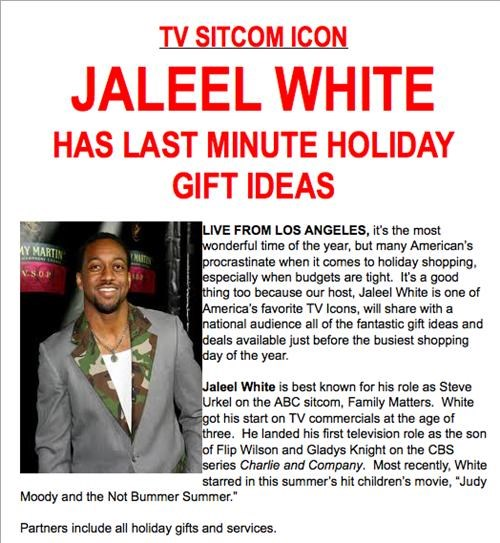 celeb christmas Jaleel White