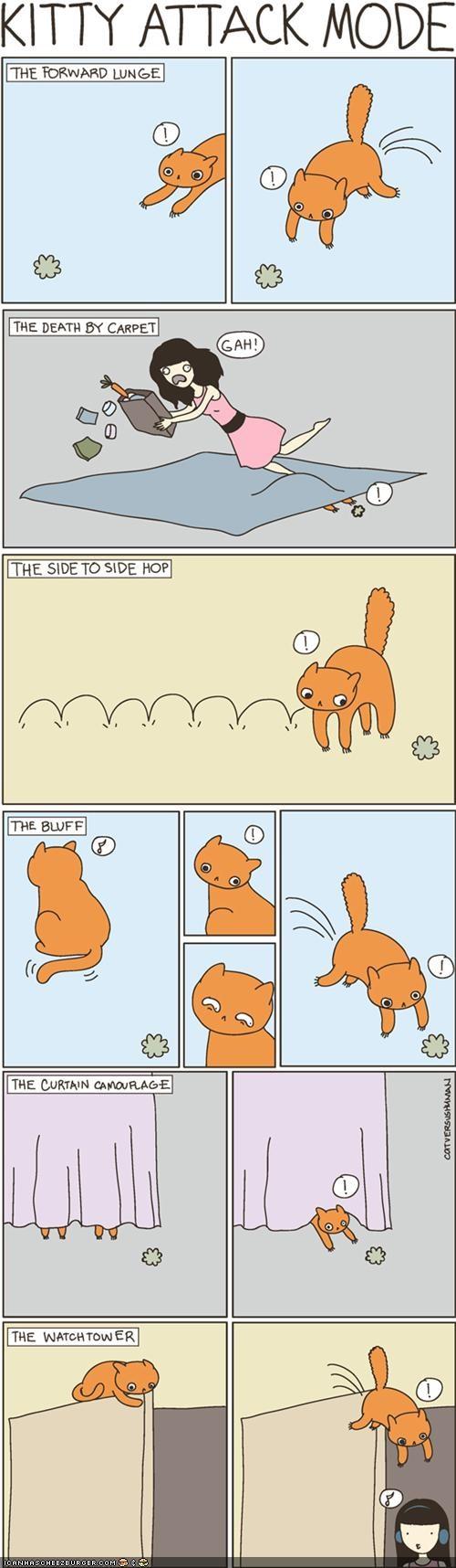 attack cat versus human comic comics - 5412308480