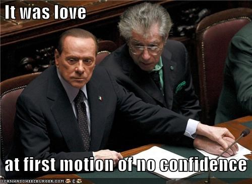 It was love at first motion of no confidence