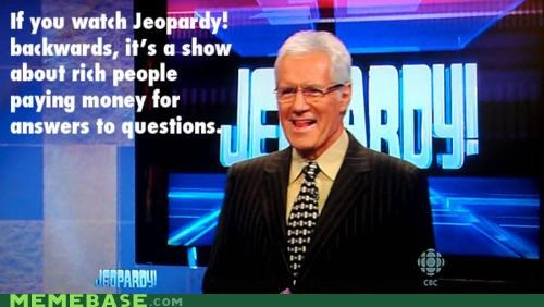 backwards game show Jeopardy Memes television - 5412344320