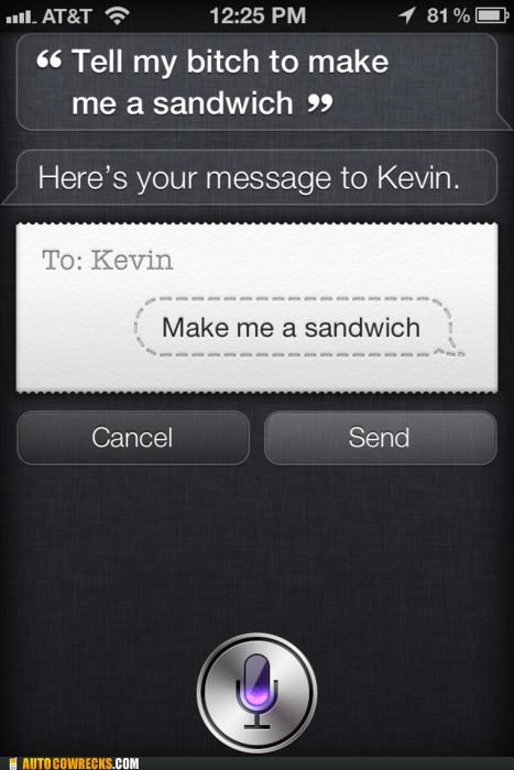 beeyotch,Hall of Fame,kevin,message,sandwich,siri
