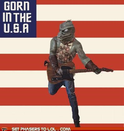 born in the usa,bruce springsteen,Gorn,Reptilians,Star Trek