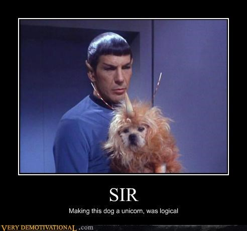 dogs hilarious logical Spock Star Trek unicorn - 5413586944