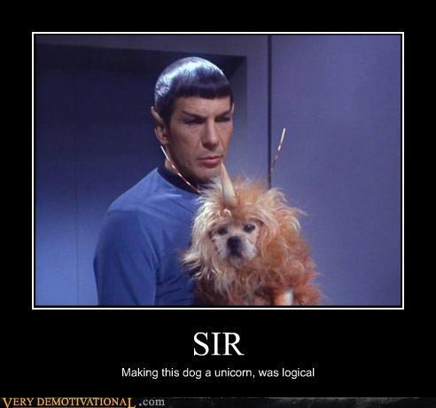 dogs hilarious logical Spock Star Trek unicorn - 5413586944
