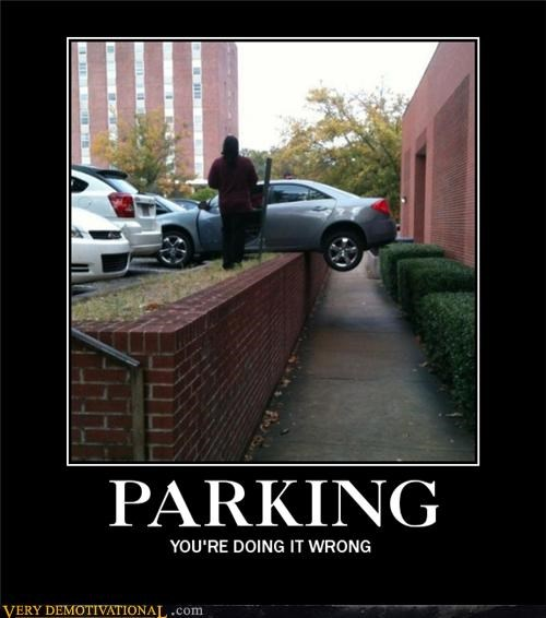 car doing it wrong hilarious parking wtf - 5413669888