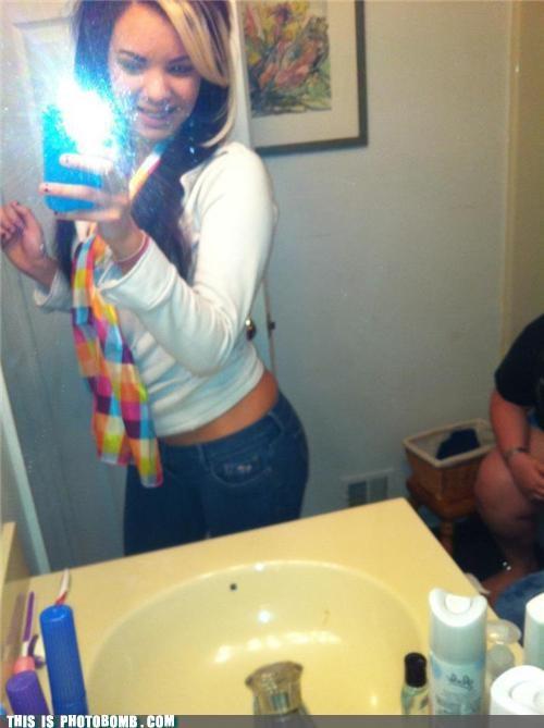 Awkward bathroom dumpage mirror poop selfshot - 5413702656