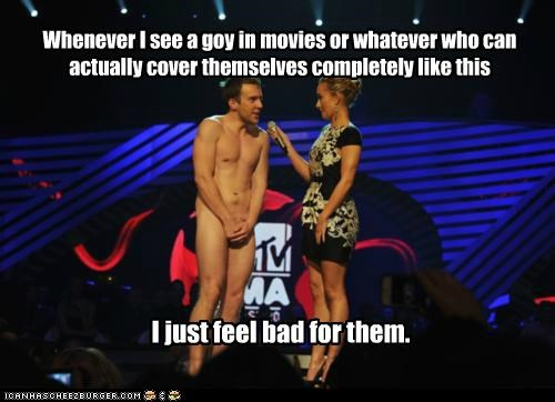 Whenever I see a goy in movies or whatever who can actually cover themselves completely like this I just feel bad for them.