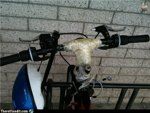 bike,dangerous,overkill,tape