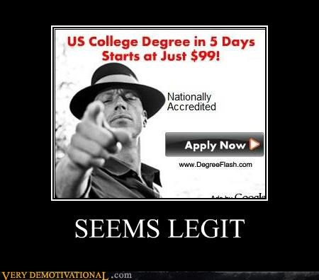 Ad,college,hilarious,seems legit