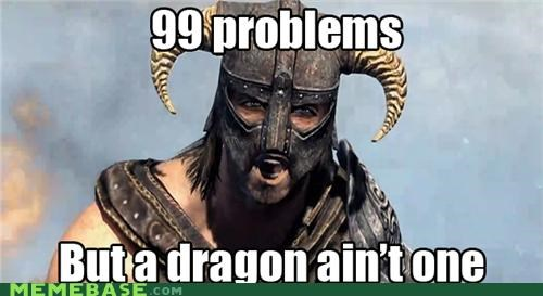 dragon Memes problems quests Skyrim video games - 5414087168
