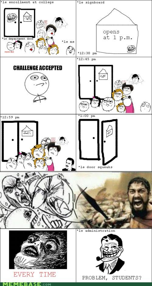 college enrollment Rage Comics registration - 5414093568
