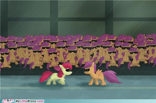 crossover cutie mark crusaders multiply Scootaloo the matrix - 5414334464