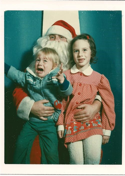 Not so sure about this Santa!