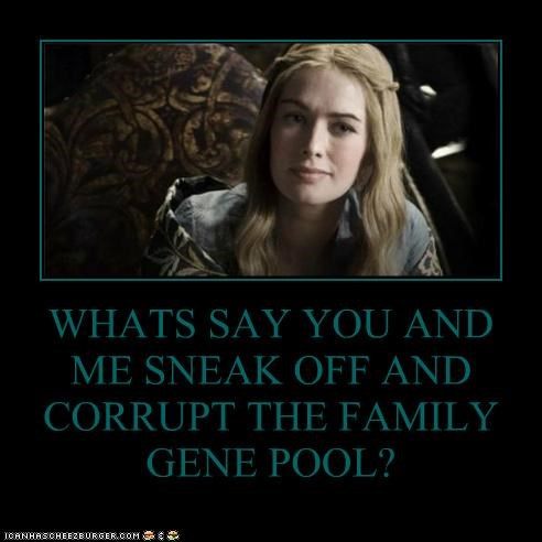 cersei lannister,corrupt,family,Game of Thrones,gene pool,incest,lena headey,sneak
