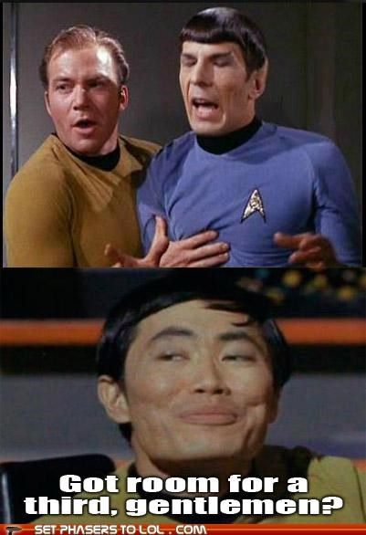 Captain Kirk george takei Leonard Nimoy Shatnerday Spock Star Trek sulu William Shatner - 5414911232