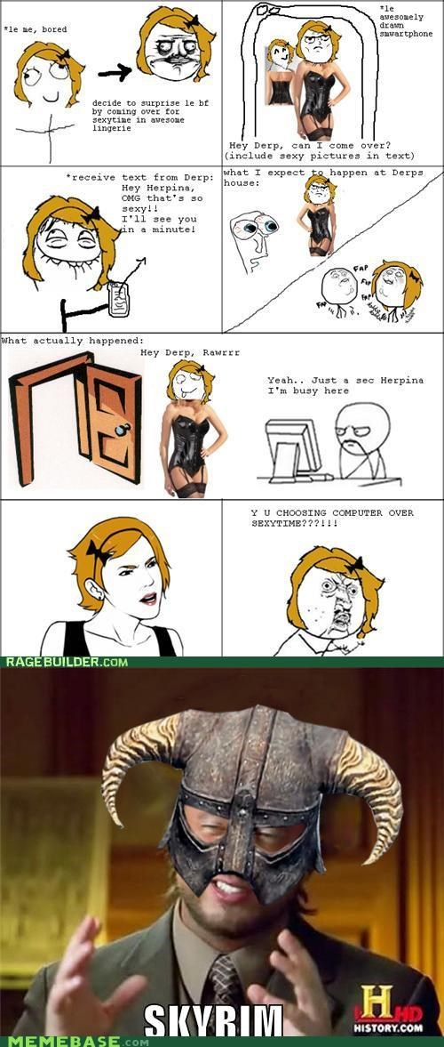 computer nords Rage Comics sexytime Skyrim video games what - 5414961920