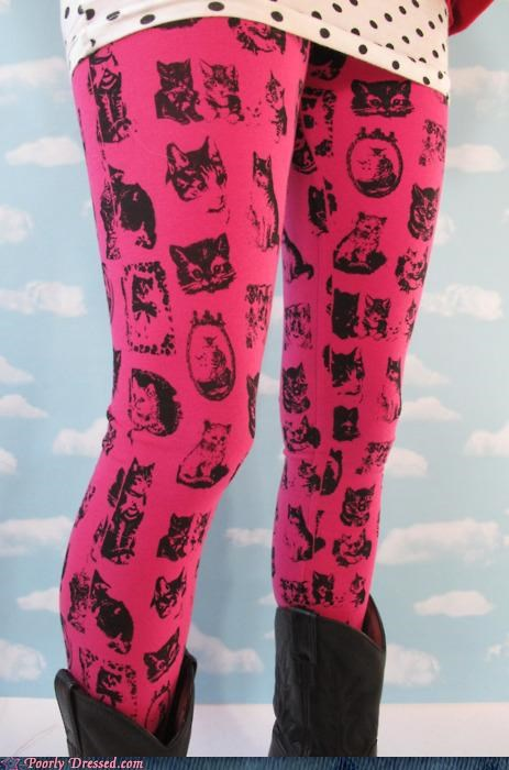 Cats,leggings,pink,winter clothes