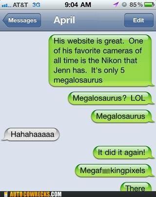 autocorrect camera megalosaurus megapixels nikon pixels - 5415035648