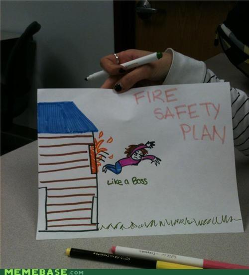 fire jump Like a Boss plan safety windows - 5415068928