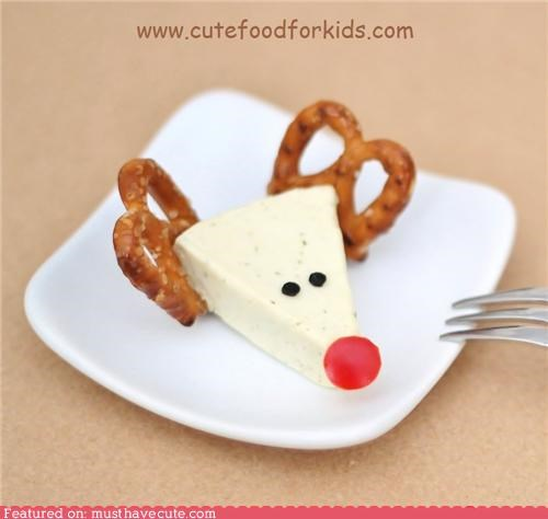 appetizer,cheese,epicute,pretzels,reindeer,rudolph,snack