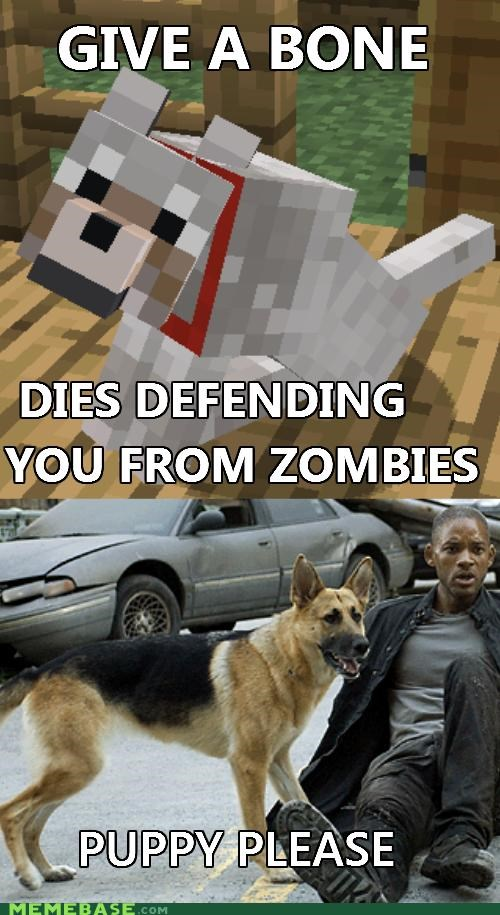 animemes,dogs,i am legend,Memes,minecraft,Sad,video games,zombie