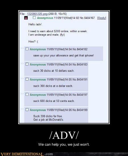 4chan advice hilarious Sad - 5415177728