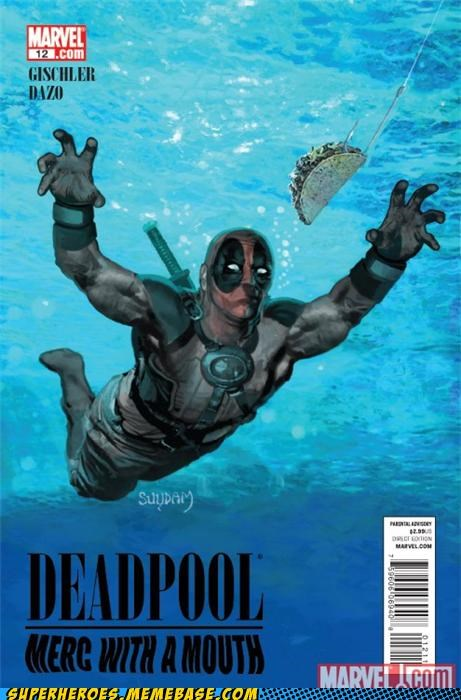 awesome,deadpool,nirvana,Straight off the Page,taco