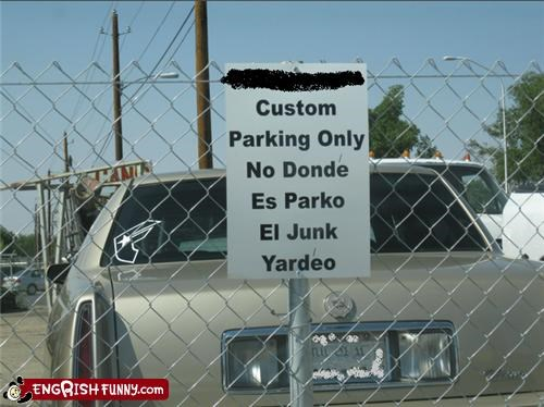 just add O no parking not Spanish - 5415350272