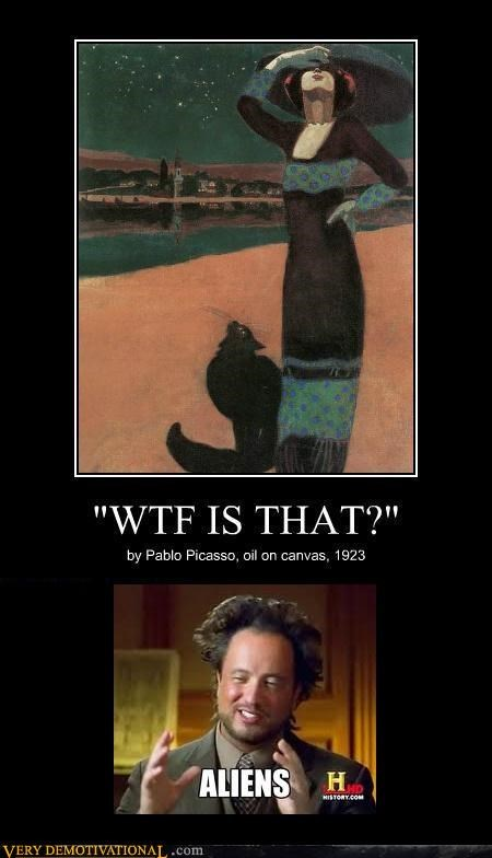 Aliens hilarious painting picasso