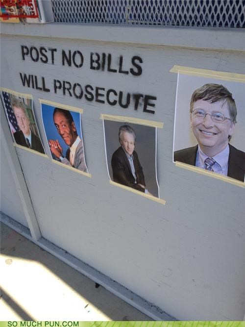 bills clever girl double meaning Hall of Fame literalism no post post no bills vandalism - 5415584768