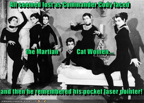 cat-women of the moon,laser pointer,lost,martian