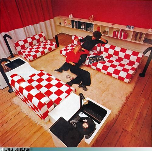 80s,checkers,red and white,tacky