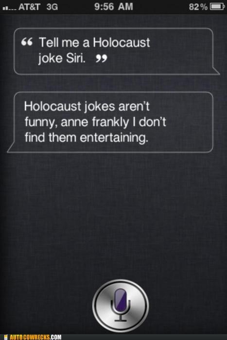 anne frank,Hall of Fame,holocaust,joke,nazi,siri
