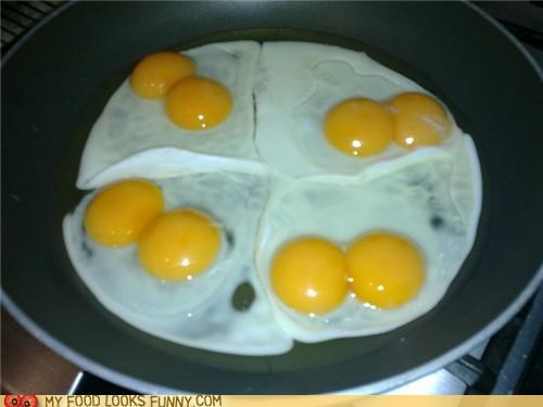 double,eggs,four,impressive,yolks