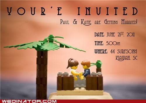 funny wedding photos invites lego save the date Wedding Invitation - 5415833600