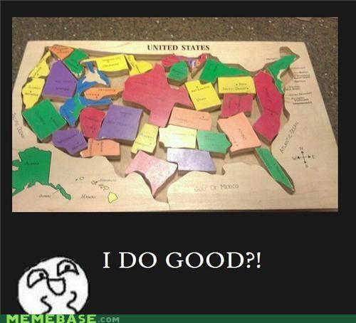 america geography kids puzzle Rage Comics sadness sigh - 5416027904