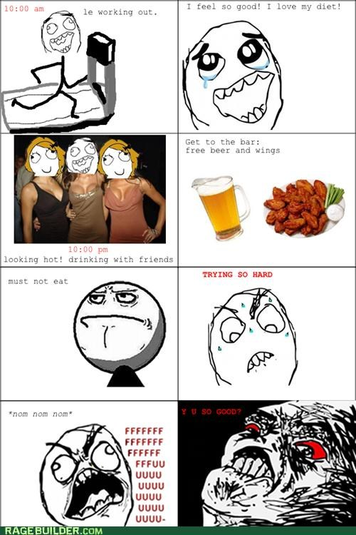 binging diet going out Rage Comics working out - 5416037120