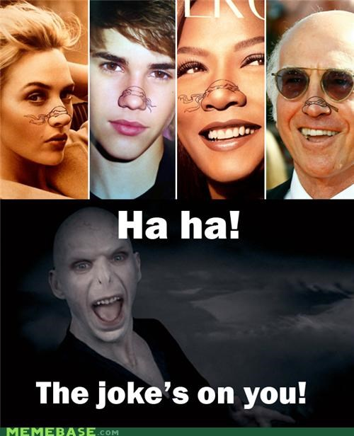 Harry Potter,justin bieber,larry david,Memes,noses,turtles,voldemort