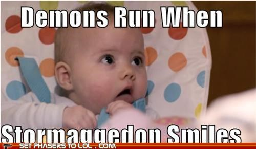 Babies,dark lord,demons,doctor who,run,smile,stormageddon,the doctor