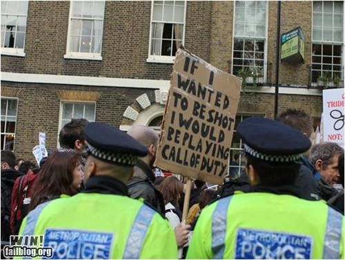 Occupy Wall Street police Protest sign video game - 5416187648