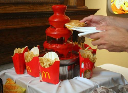 art,Britt Spencer,ketchup fountain,mcdonalds-food-pyramid,SCAD