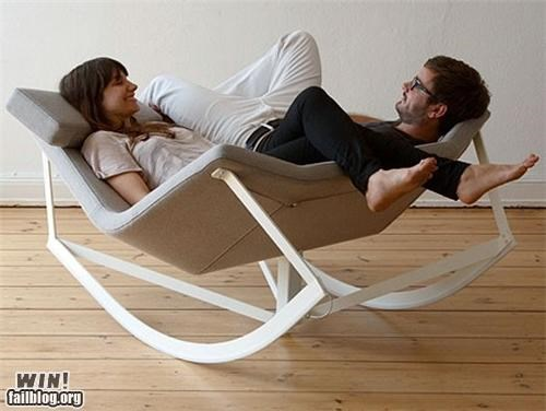 chair,clever,couple,design,furniture,rocking chair